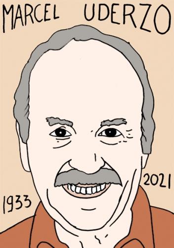 mort de Marcel Uderzo,dessin,portrait,laurent Jacquy