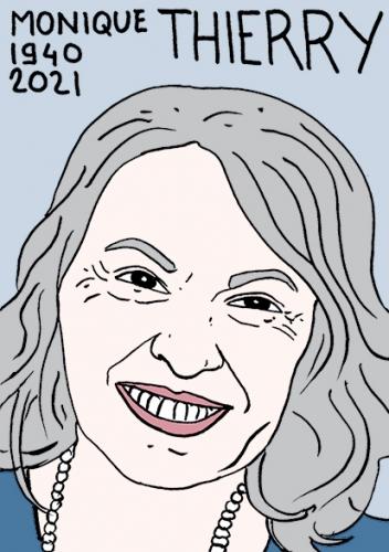 mort de Monique Thierry,dessin,portrait,laurent Jacquy,poésie