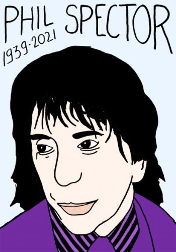 mort de Phil Spector,dessin,portrait,laurent Jacquy