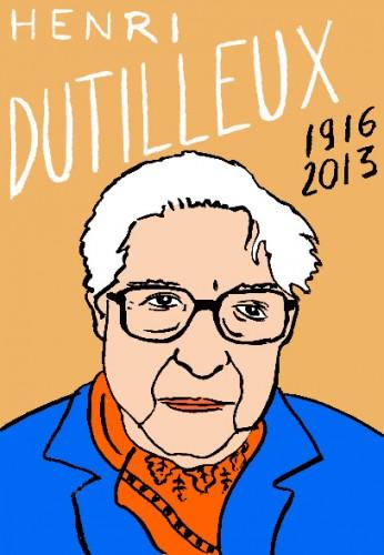 Henri Dutilleux,portrait,dessin,laurent jacquy,art modeste,art singulier,les beaux dimanches
