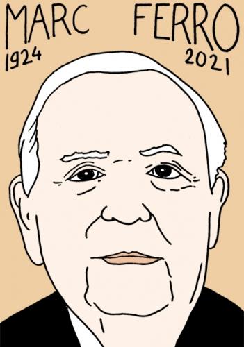 mort de marc ferro,dessin,portrait,laurent Jacquy,historien