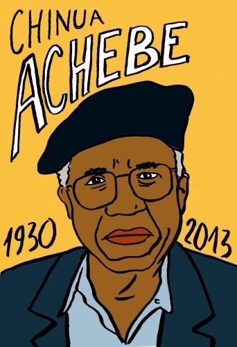 Chinua Achebe,visage,Portrait,dessin,laurent Jacquy,french Outsideur,Célébrité,mort,répertoire des macchabées célèbres,décés,mort d'homme,illustrateur,illustration,Les Beaux Dimanches