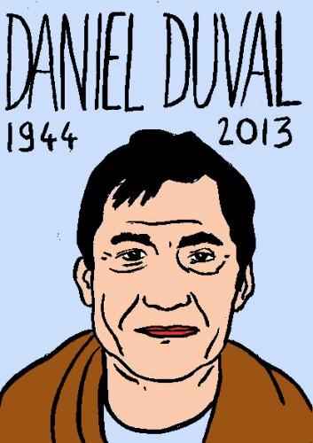mort de daniel duval,dessin,portrait,laurent jacquy,mort d'homme,répertoire des macchabées célèbres
