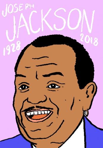 mort de joseph jackson, dessin, portrait, laurent jacquy,répertoire des macchabées célèbres,mort d'homme,