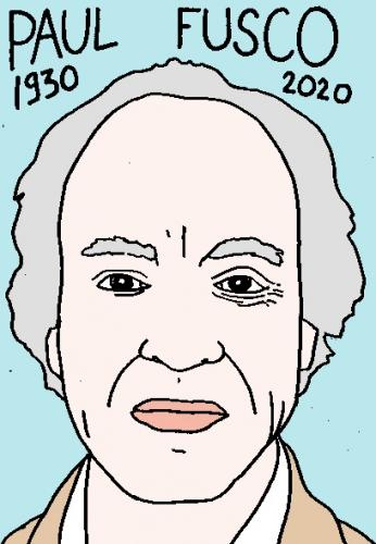 mort de paul Fusco dessin, portrait, laurent jacquy,répertoire des macchabées célèbres,mort d'homme,