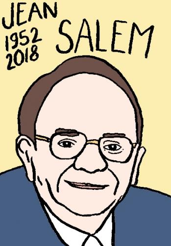 mort de Jean Salem, dessin, portrait, laurent jacquy,répertoire des macchabées célèbres,mort d'homme,