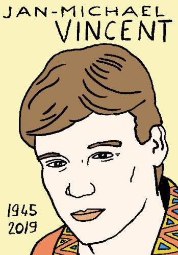 mort de jan-Michael Vincent, dessin, portrait, laurent jacquy,répertoire des macchabées célèbres,mort d'homme,