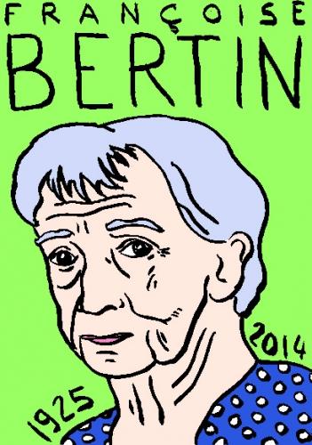 mort de françoise bertin,dessin,portrait,laurent jacquy,répertoire des macchabées célèbres