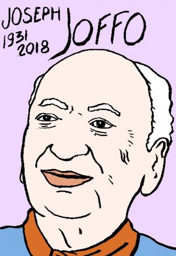 mort de Joseph Joffo, dessin, portrait, laurent jacquy,répertoire des macchabées célèbres,mort d'homme,
