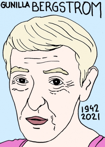 mort de Gunilla Bergström,dessin,portrait,laurent Jacquy