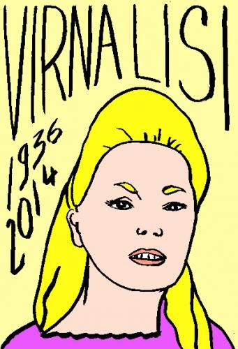 mort de virna lisi,dessin,portrait,laurent jacquy,répertoire des macchabées célèbres