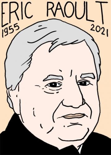 mort d'Eric Raoult,dessin,portrait,laurent Jacquy
