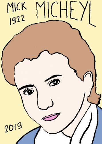 mort de Mick Micheyl, dessin, portrait, laurent jacquy,répertoire des macchabées célèbres,mort d'homme,
