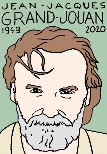 mort de Jean-Jacques Grandjouan, dessin, portrait, laurent jacquy,répertoire des macchabées célèbres,mort d'homme,