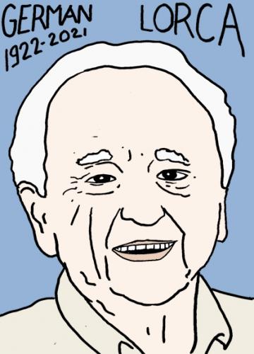 mort de German Lorca,dessin,portrait,laurent Jacquy,photographe