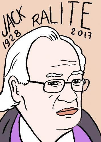 mort de Jack Ralite, dessin, portrait, laurent jacquy,répertoire des macchabées célèbres,mort d'homme,