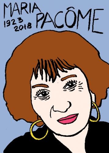 mort de maria pacôme, dessin, portrait, laurent jacquy,répertoire des macchabées célèbres,mort d'homme,