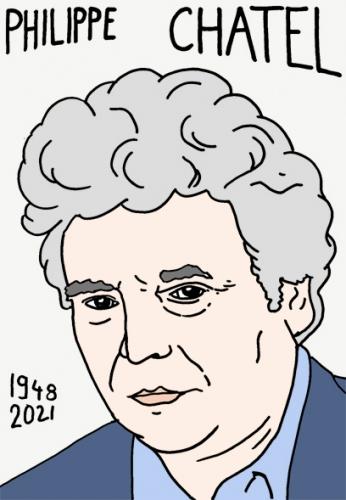 mort de Philippe Chatel,dessin,portrait,laurent Jacquy