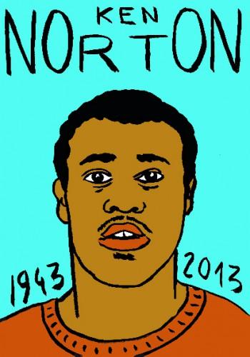 Ken norton,boxe,sport,dessin,portrait,laurent jacquy,art singulier,french outsider,les beaux dimanches,répertoire des macchabées célèbres