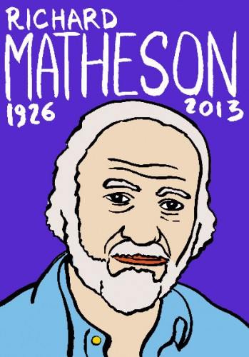 richard Matheson,dessin,portrait,lurent jacquy,french outsider,art singulier,les beaux dimanches,répertoire des macchabées célèbres