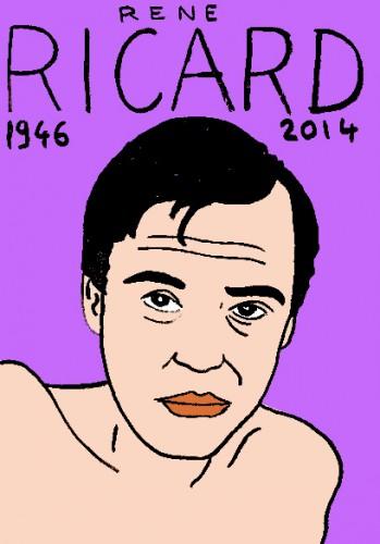 mort de René Ricard,dessin,portrait,laurent jacquy,mort d'homme,répertire des macchabées célèbres,factory