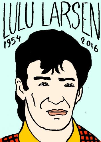 mort de lulu larsen, dessin, portrait, laurent jacquy,répertoire des macchabées célèbres,mort d'homme,