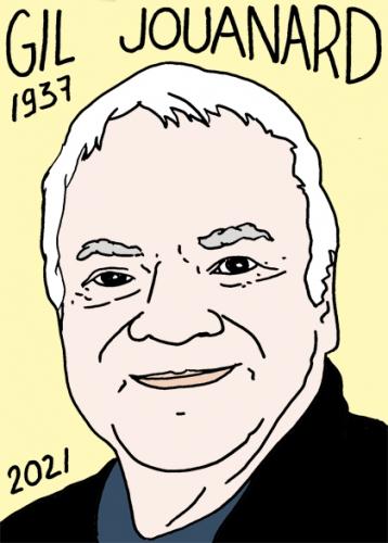 mort de Gil Jouanard,dessin,portrait,laurent Jacquy,poésie