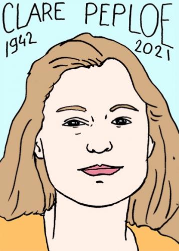 mort de Clare Peploe,dessin,portrait,laurent Jacquy
