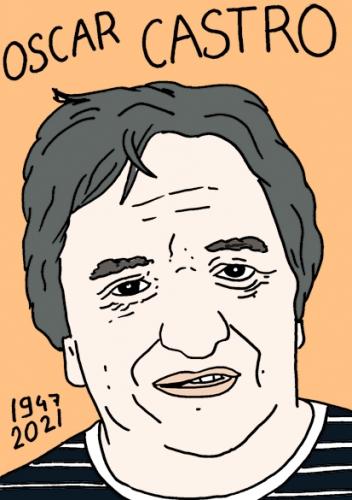 mort d'Oscar Castro,dessin,portrait,laurent Jacquy,poésie