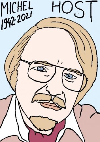 mort de Michel Host,dessin,portrait,laurent Jacquy