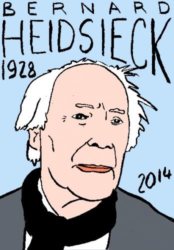 mort de bernard heidsieck,dessin,portrait,laurent jacquy,répertoire des macchabées célèbres