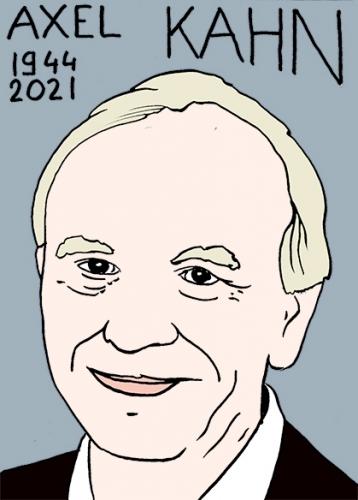mort d'Axel Kahn,dessin,portrait,laurent Jacquy