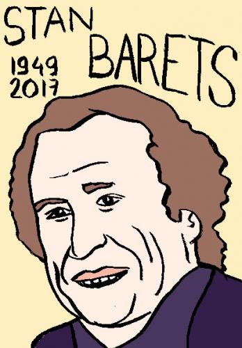mort de stan barets, dessin, portrait, laurent jacquy,répertoire des macchabées célèbres,mort d'homme,
