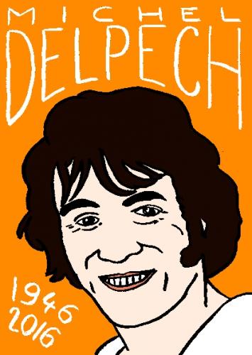 mort de michel delpech, dessin, portrait, laurent jacquy,répertoire des macchabées célèbres,mort d'homme,