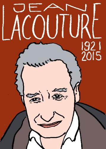 mort de jean lacouture, dessin, portrait, laurent jacquy,répertoire des macchabbées célèbres, visage,mort d'homme