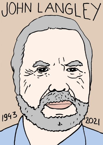 mort de John Langleyr,dessin,portrait,laurent Jacquy