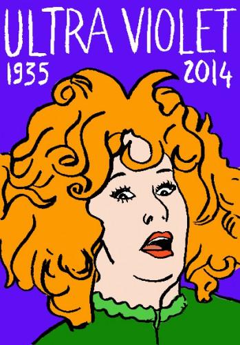 mort d'ultra violet,dessin,portrait,laurent jacquy,répertoire des macchabées célèbres,warhol