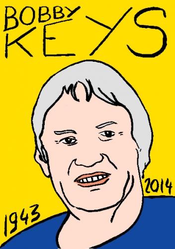 mort de bobby keys,dessin,portrait,laurent jacquy,répertoire des macchabées célèbres