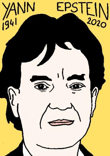 mort de Yann Epstein, dessin, portrait, laurent jacquy,répertoire des macchabées célèbres,mort d'homme,