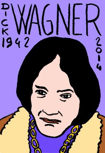 Décès de Dick Wagner,dessin,portrait,laurent Jacquy,répertoire des macchabées célèbres