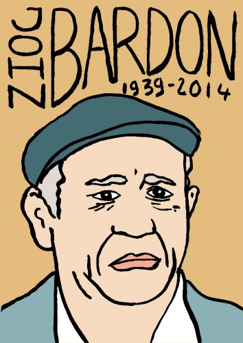 mort de michel crespin,dessin,portrait,john bardon,répertoire des macchabées célèbres
