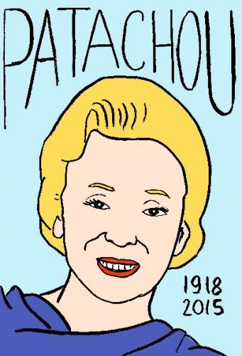 mort de Patachou, dessin, portrait, laurent jacquy,répertoire des macchabbées célèbres, visage,mort d'homme