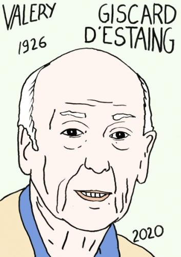 Mort de Valéry Giscard d'Estaing, dessin, portrait,laurent jacquy