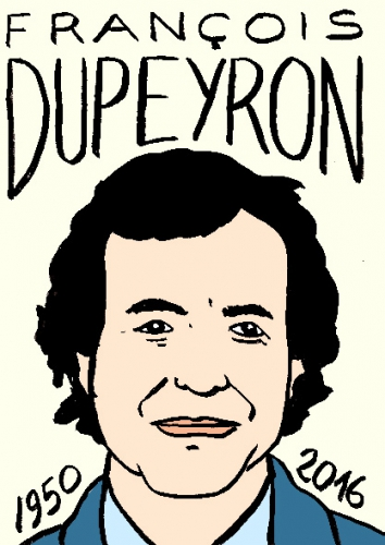 mort de françois dupeyron, dessin, portrait, laurent jacquy,répertoire des macchabées célèbres,mort d'homme,