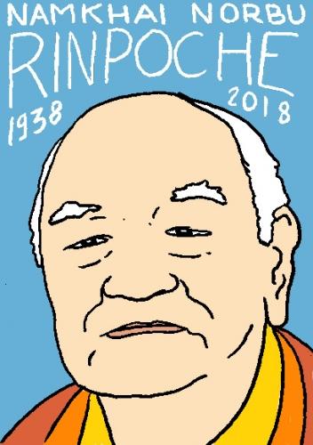 mort de namkhai norbu rinpoche, dessin, portrait, laurent jacquy,répertoire des macchabées célèbres,mort d'homme,