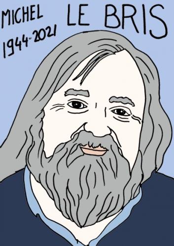 mort de Michel Le Bris,dessin,portrait,laurent Jacquy