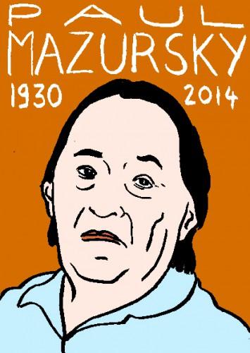 mort de Paul Mazursky,dessin,portrait,laurent jacquy,répertoire des macchabées célèbres