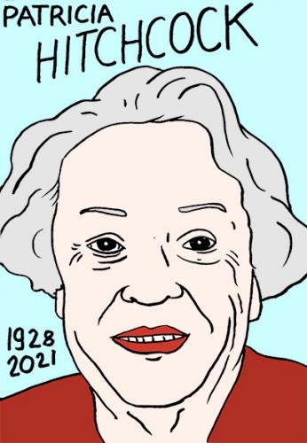 mort de Patricia Hitchcock,dessin,portrait,laurent Jacquy