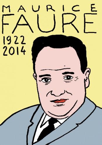 mort  de maurice faure,dessin,portrait,laurent jacquy,répertoire des macchabées célèbres,mort d'homme,art modetse
