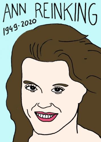 Mort d'Ann Reinking, dessin, portrait,laurent jacquy